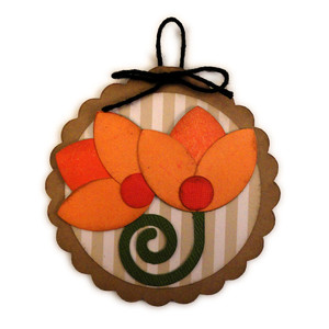 tulip spring disc ornament