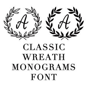 monogram wreath font