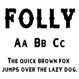 cg folly font
