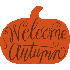 welcome autumn pumpkin
