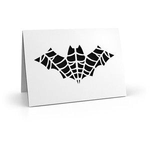 5x7 card ornate bat