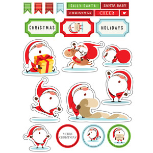 ml silly santa stickers