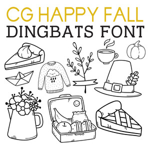 cg happy fall dingbats