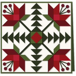 carolina lily quilt block 7x7 card