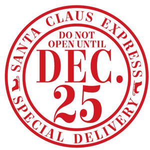 santa claus express label