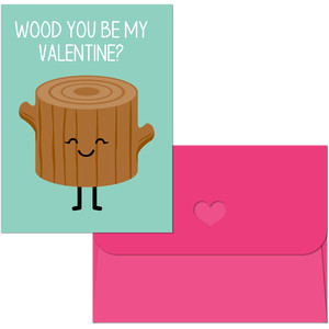 valentine print and cut wood