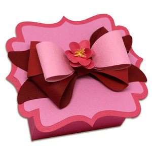 layered bow favor box