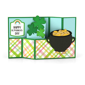 wiper card st. patrick's pot of gold
