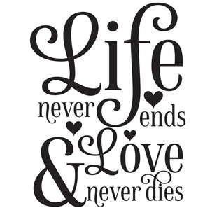 life never ends & love never dies