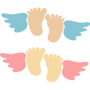baby feet with angel wings