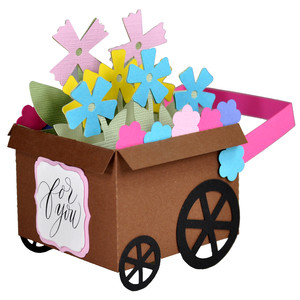 3d flower cart decoration