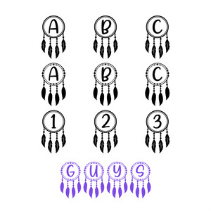 guys dream catcher dingbat font