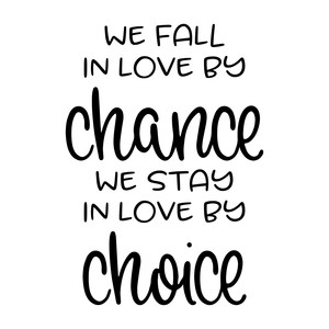 we fall in love by chance