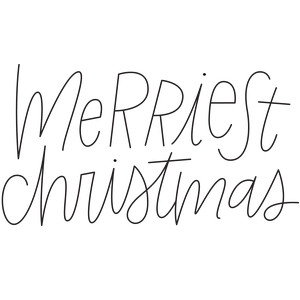 sketch handwritten merriest christmas phrase