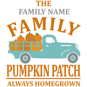 custom family pumpkin patch sign