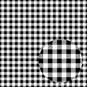 black & white seamless buffalo plaid pattern