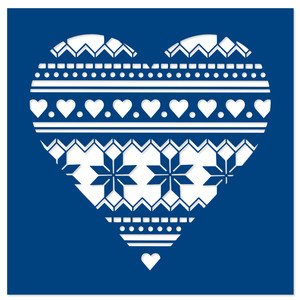 christmas pattern heart