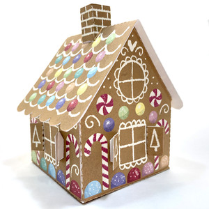 3d print and cut gingerbread house