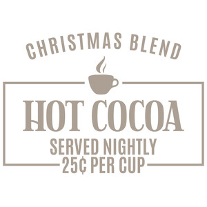 christmas blend hot cocoa sign