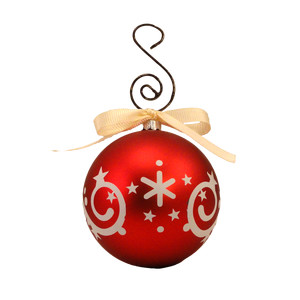 christmas ball swirls vinyl overlay