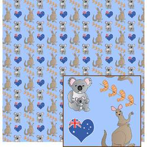 kangaroo and koala pattern