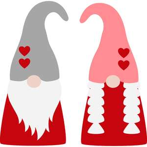 valentine gnome couple