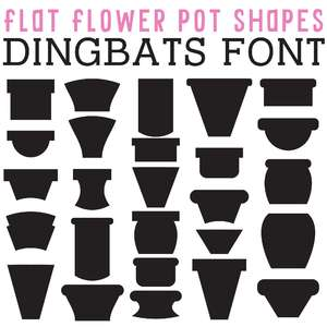 cg flat flower pot shapes dingbats