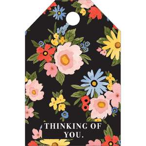 thinking of you floral tag
