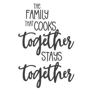 family the cooks together phrase