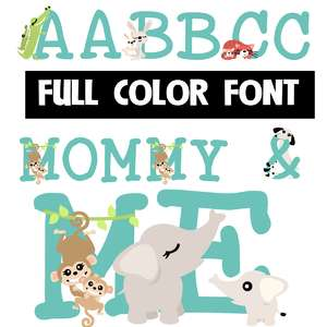 mommy and me color font