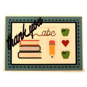 teacher trad thanks shadowbox card