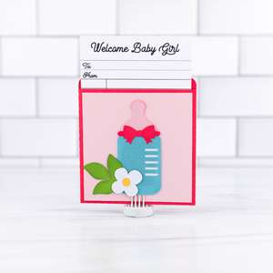 library pocket card baby girl