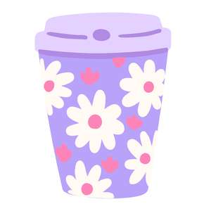 daisy flower coffee cup