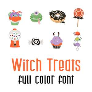 witch treats full color font