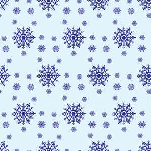 big snowflakes pattern
