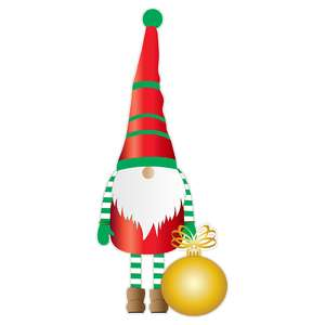 christmas gnome with ornament