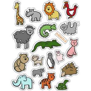 cg animals around the block stickers
