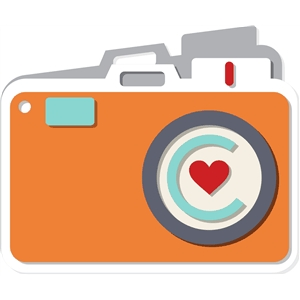 camera shaped card
