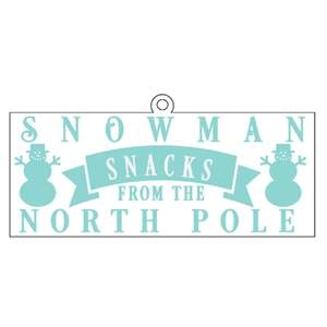 snowman snack tag