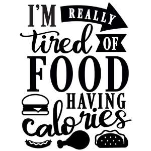 really tired food calories