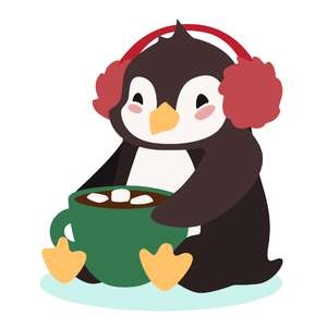 penguin with cocoa