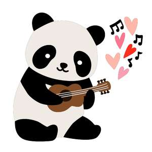 panda playing guitar