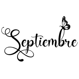 septiembre butterfly word