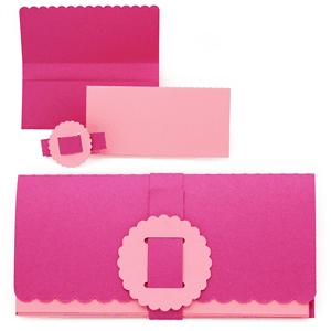 album mini scalloped edge checkbook style