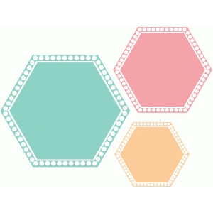 dotted frame hexagon nesting shapes