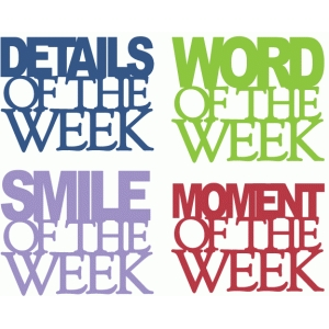 'of the week' series