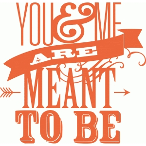 'you & me are meant to be' phrase