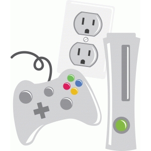 video game controller console and electrical outlet