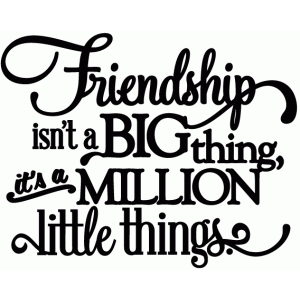 friendship is a million little things - vinyl phrase