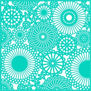 12x12 flower doily background lace